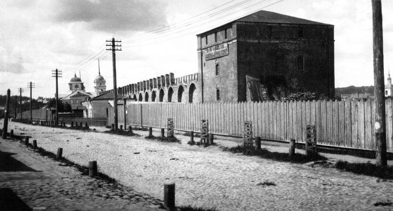 Смоленская крепостная стена начала XX века. Северная часть