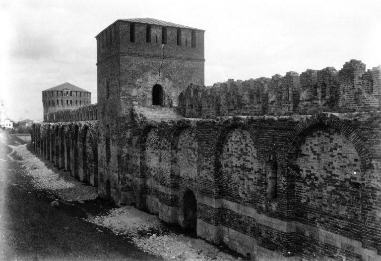 Смоленская крепостная стена начала XX века. Восточная часть