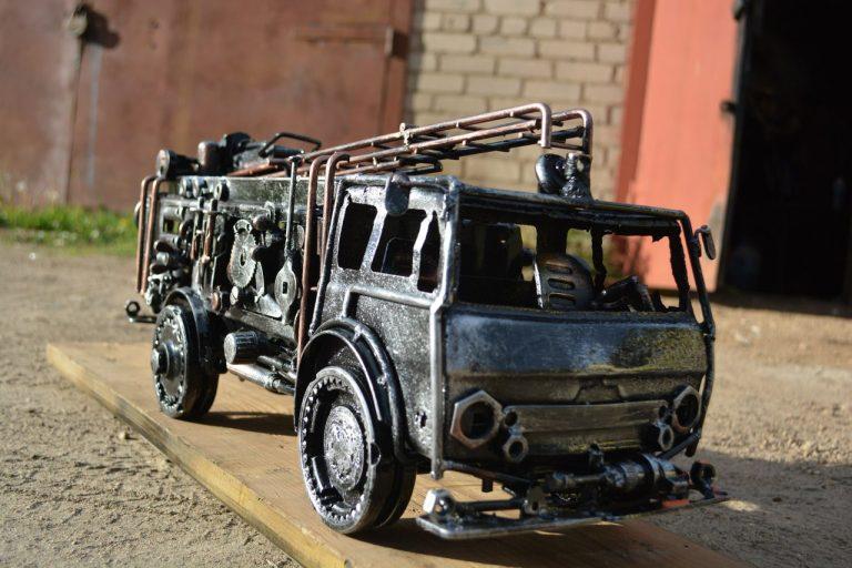 Пожарная машина МАЗ 5337 А2 в стиле стимпанка