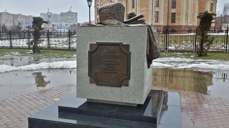 Памятник бородинскому хлебу в Десногорске