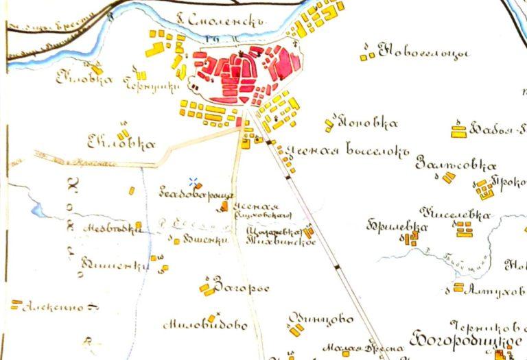 Реадова Роща. Фрагмент карты 1900 года