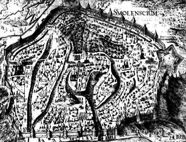 Фрагмент гравюры В. Гондиуса «Смоленский триумф», 1636г.