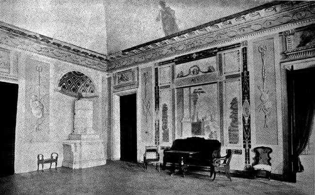 Большая гостиная в усадьбе Покровское, 1900-1917