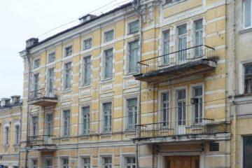 Дом Ланиных на углу улиц Ленина и Большой Советской