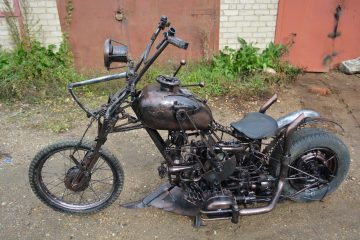 В Смоленске появился странный кастом-мотоцикл