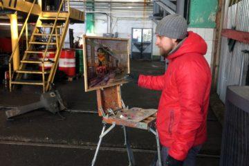 Создание картины «Ремонтный цех» от Дениса Петруленкова