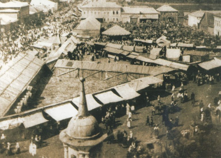 Город Гжатск. Казанская ярмарка