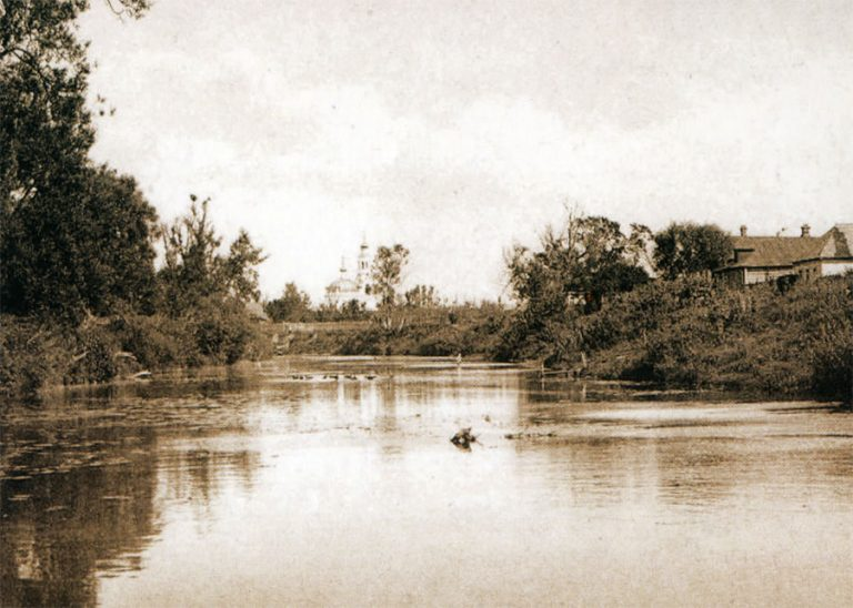 Город Гжатск. Река Гжать. Открытка начала XX века