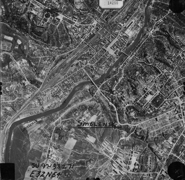 Немецкая воздушная съёмка Смоленска и окрестностей