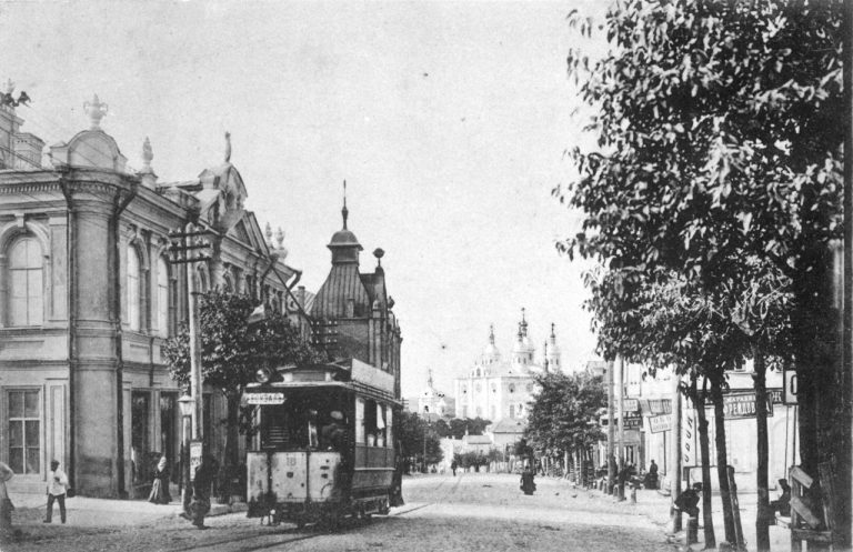 Трамвай у дома Павлова, 1900-е.
