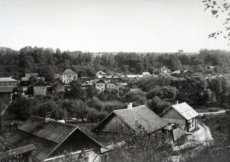 Вид с Козинки на Казанскую гору. 1901