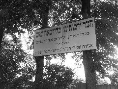 Таблички с надписями на иврите.