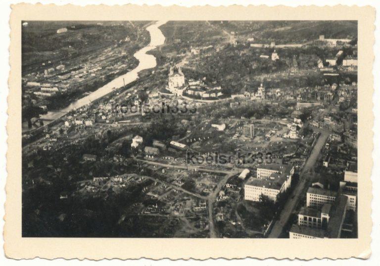 Аэрофотосъёмка Смоленск времён оккупации. Дом Советов