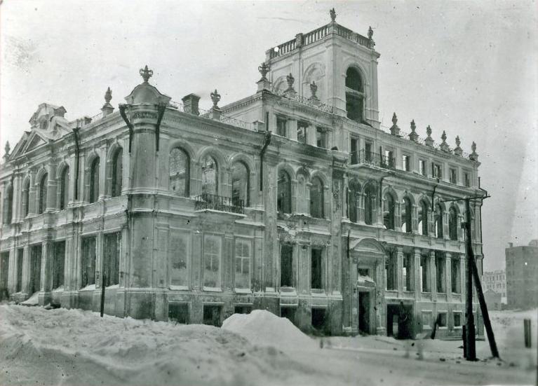 Дом Павлова после освобождения Смоленска от немцев