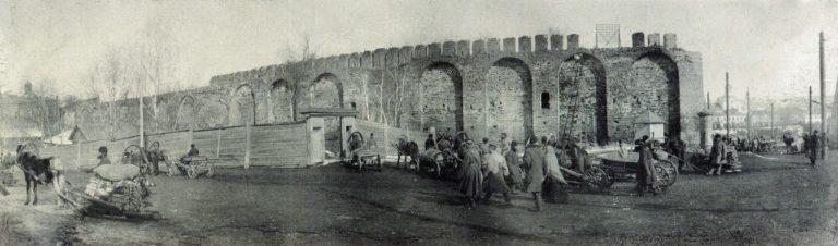Восточный участок крепостной стены и водозабор. Начало ХХ века
