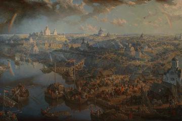 Картины «Смоленск великокняжеский» и «Смоленск православный», что украшают вокзал