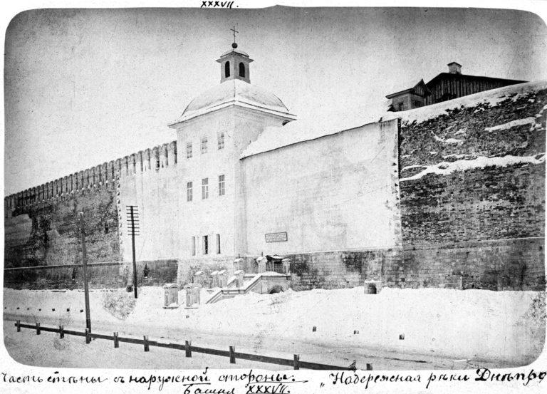 Церковь Тихона Задонского и крепостная стена. 1903