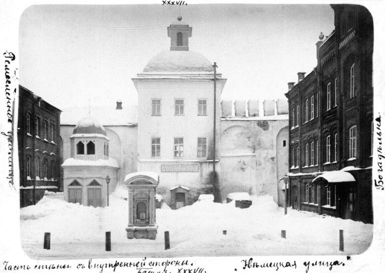 Церковь Тихона Задонского, внутренняя часть двора, 1903