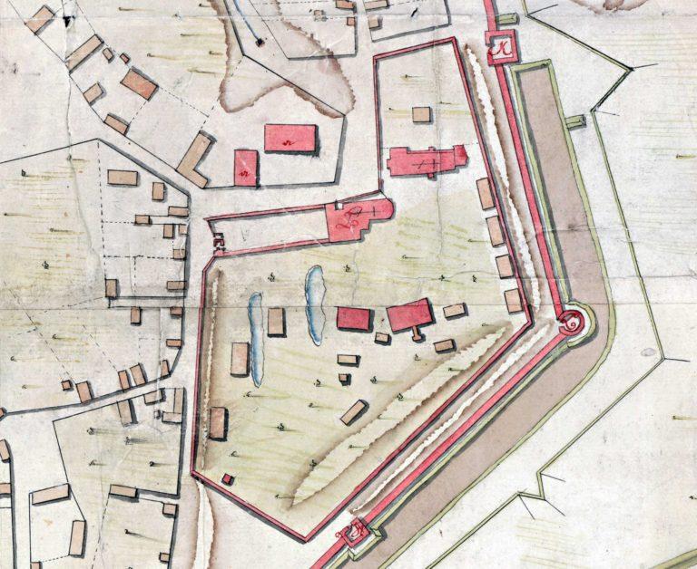 Авраамиев монастырь на плане города 1778 года