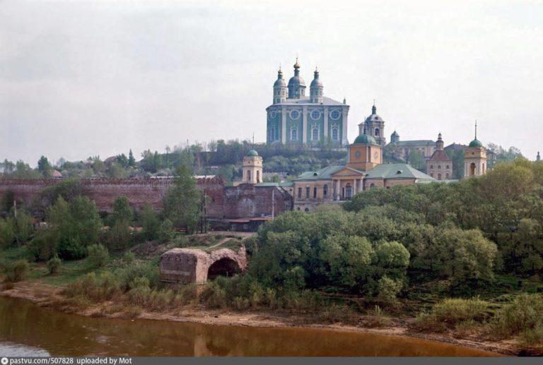 Вид на Днепр и Соборную гору, 1973