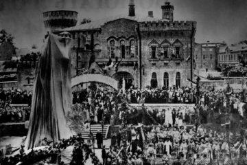 Фотографии с церемонии открытия «памятника с орлами»