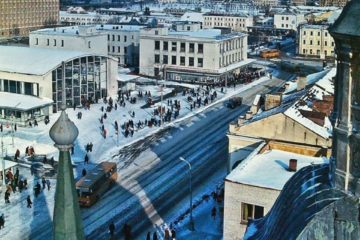 Улица Беляева с высоты, 1982 год