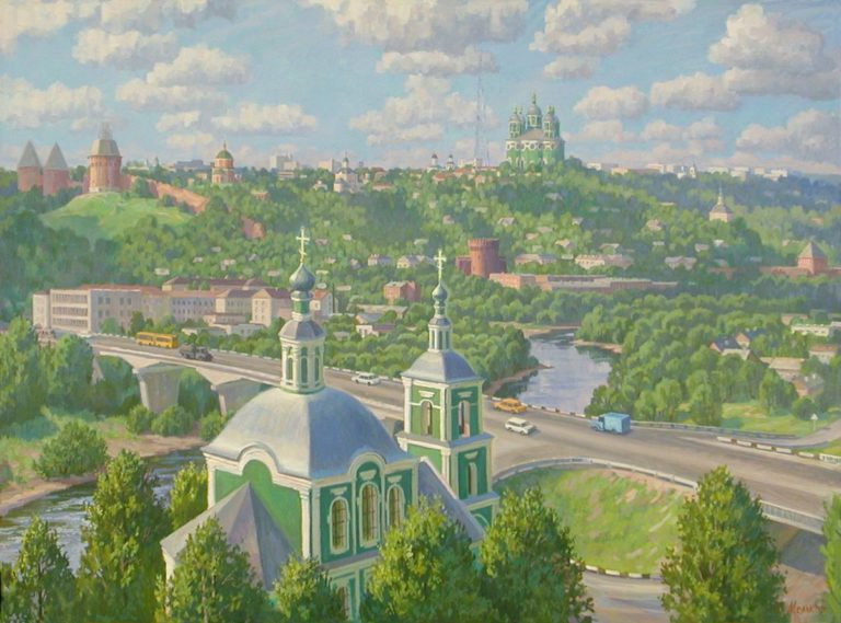 Смоленск. Светлый день, 2000г., холст, масло, 100х135