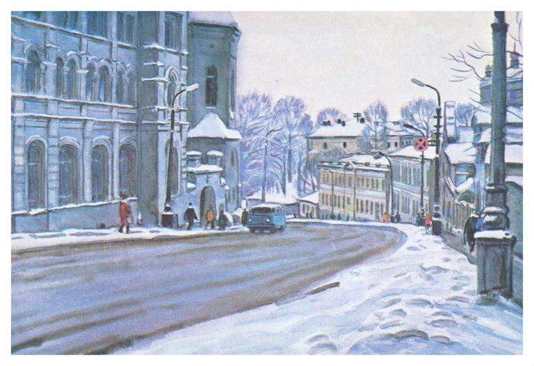 Первый снег. Большая Советская улица