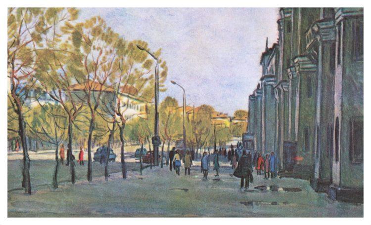 Смоленск в 1970-е годы на картинах В. Рогачева