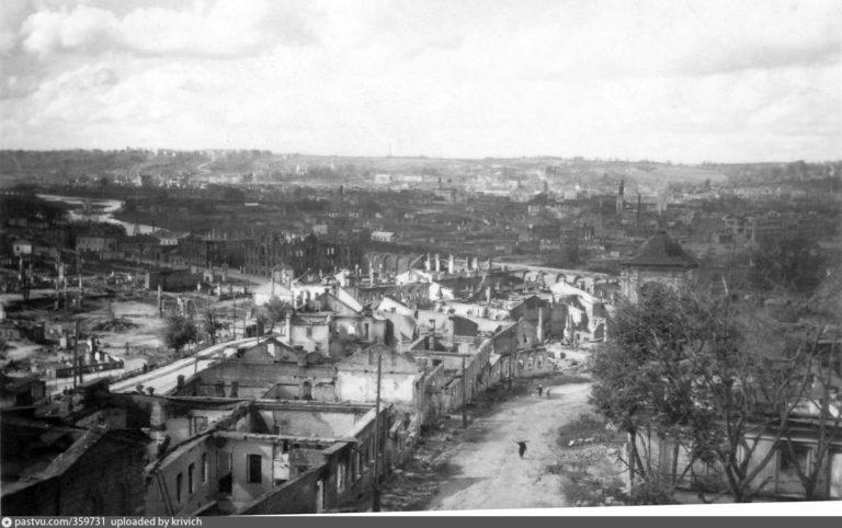 Улицы Советская и Большая Советская, 1941