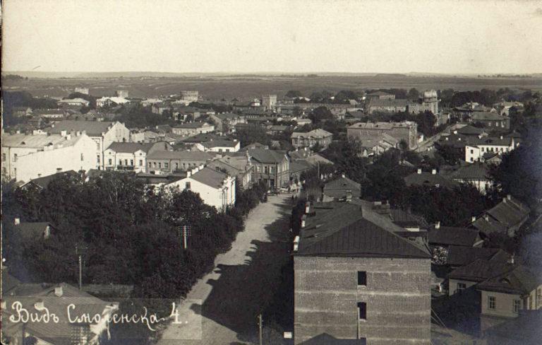 Вид Смоленска начала XX века — 4, Юго-вост. угол дома Будникова | полквартала вправо от синагоги