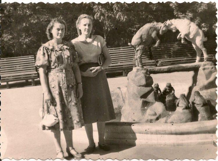 Несохранившаяся скульптура с козлятами в ЦПКиО
