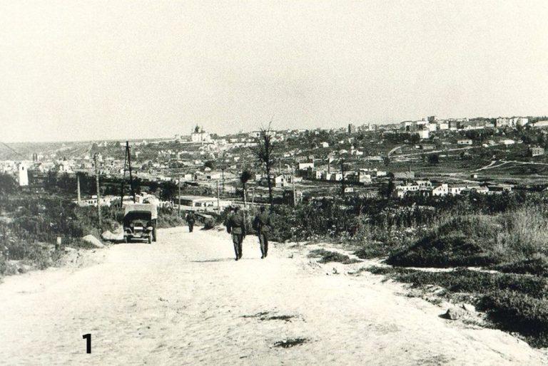 Вид на город со Шклянной горы, фото времён ВОВ