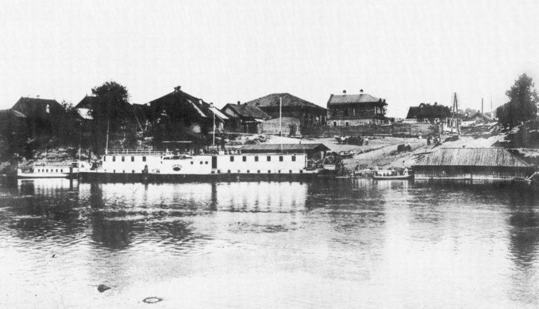 Пятницкая пристань. 1900-е. Пароход «Левъ»