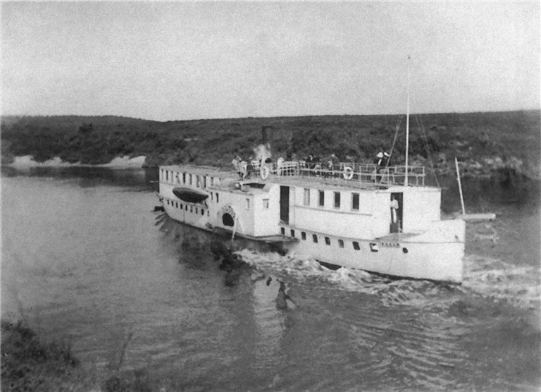 Пароход «Удалой» на Днепре, 1913