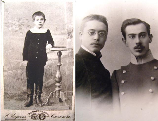 Александру 10 лет   Со смоленским другом Николаем Высоцким