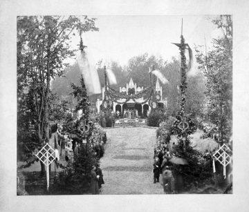 Закладка и открытие памятника М.И. Глинке в Смоленске, 1885 год