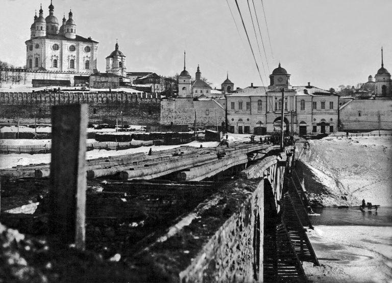 Деревянный мост через Днепр - каким он был?