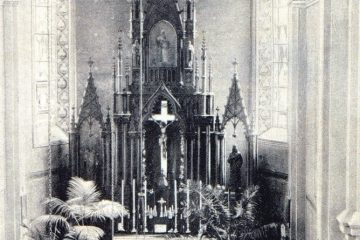 Внутреннее убранство костёла в начале XX века