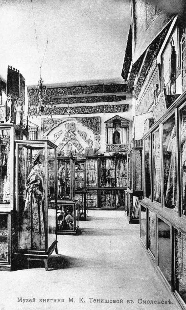 """Экспозиция музея """"Русская старина"""", фото 1909-1911 годов"""