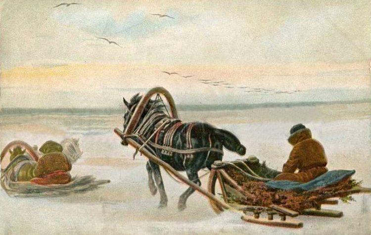 Крестьянский дровяной промысел конца XIX века